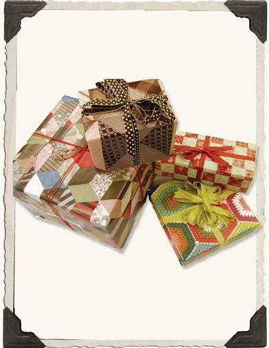 QUILT PRINTS GIFT WRAP