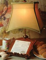 KITCHEN LAMP WITH COOKBOOK STAND