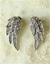 CRYSTAL CHERUB WINGS EARRINGS