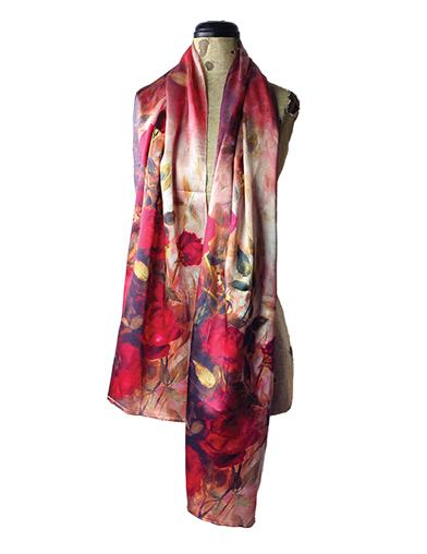 FRENCH WATERCOLOUR SILK SCARF