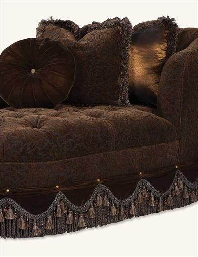 DARK CHOCOLATE VELVET CHAISE