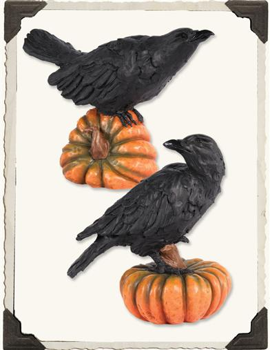 RAVEN ON A GOURD (PAIR)