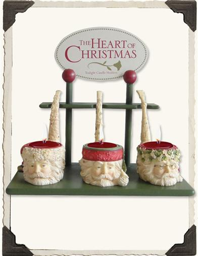 SANTA PIPE DREAMS TEALIGHT HOLDERS (SET OF 3)