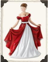 ROYAL DOULTON RUBY PETITE PRETTY LADY