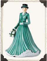 ROYAL DOULTON MERRY CHRISTMAS PETITE PRETTY LADY