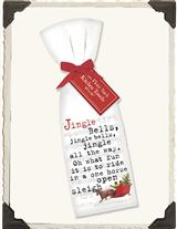 JINGLE BELLS FLOUR SACK TOWELS (PAIR)