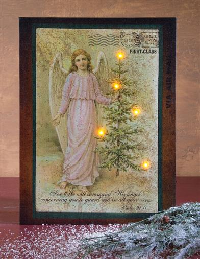 ILLUMINATED ANGEL CANVAS