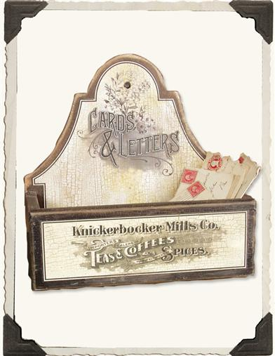 VINTAGE ADVERTISING LETTER BOX