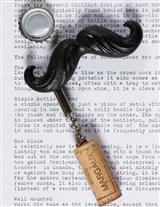 MUSTACHE BOTTLE OPENER & CORK PULL