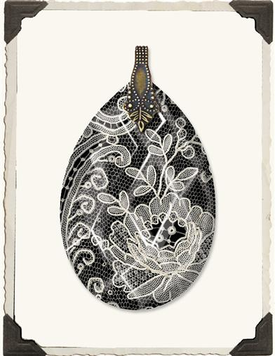 CHANTILLY LACE TEARDROP PENDANT