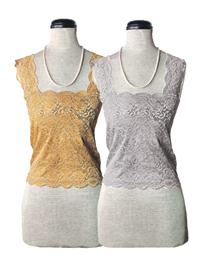 Silky Lace Camisoles (Gold & Silver Set)