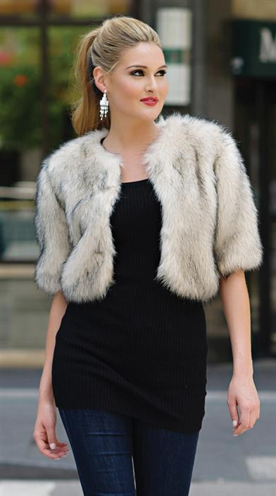 FAUX FUR SILVER FOX JACKET