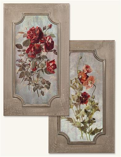 PARISIAN PERENNIALS PANELS (PAIR)