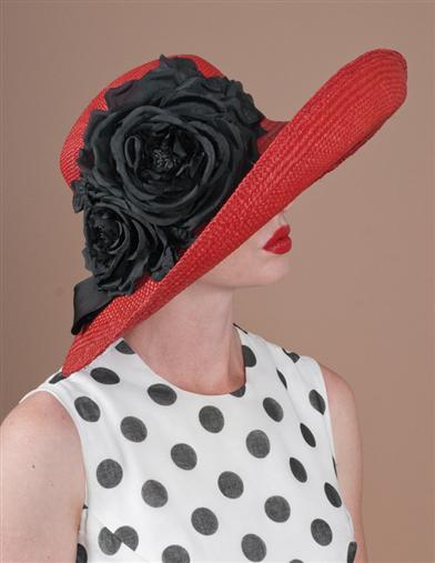 Louise Green Chicory Roses Hat