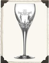 GALWAY IRISH CRYSTAL CLADDAUGH WINE GOBLETS (PAIR)