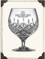 GALWAY IRISH CRYSTAL CLADAUGH BRANDY SNIFTERS (PR)