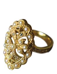 BETROTHAL GOLD VERMEIL RING
