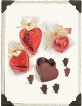 CHOCOLATE CUPIDS IN A HEART