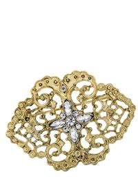 Downton Abbey Gold Lace Filigree Brooch
