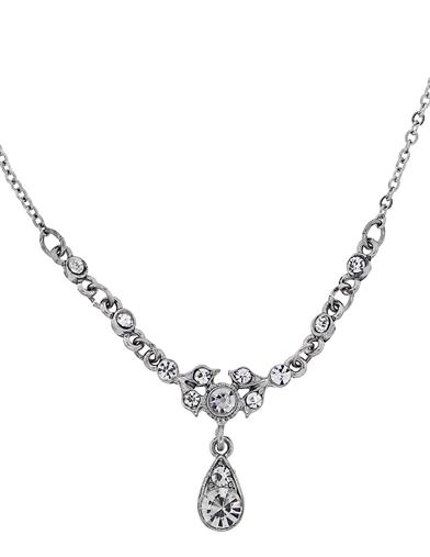 DOWNTON ABBEY SPARKLING CRYSTAL DROP NECKLACE