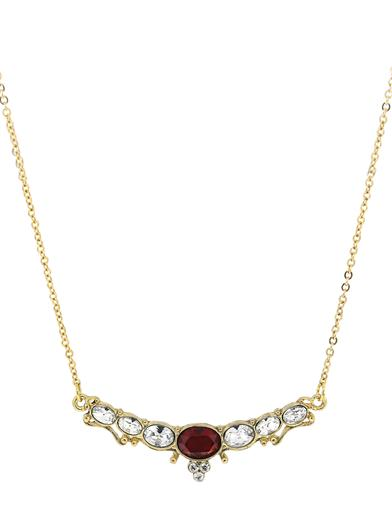 Vintage Style Jewelry, Retro Jewelry Downton Abbey Ruby Jewel Crystal Collar Necklace $34.95 AT vintagedancer.com