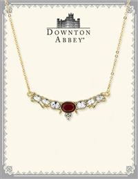 Downton Abbey Ruby Jewel Crystal Collar Necklace