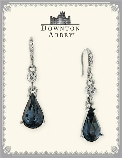 DOWNTON ABBEY SAPPHIRE PEAR DROP EARRINGS
