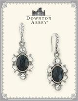 DOWNTON ABBEY BLUE SAPPHIRE OVAL EARRINGS