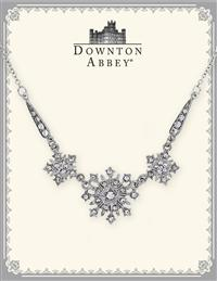 Downton Abbey White Diamond Starburst Necklace