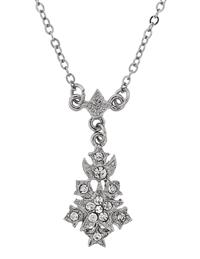 Downton Abbey Silver Starburst Pendant Necklace