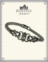 DOWNTON ABBEY JET FILIGREE HINGED BANGLE