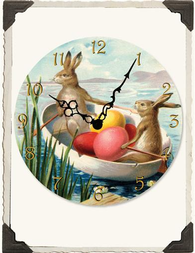 ROWING RABBITS CLOCK