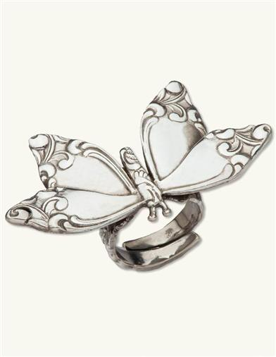 BUTTERFLY SPOON RING