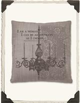 DOWNTON ABBEY PILLOW (I AM A WOMAN)