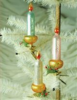 MERCURY GLASS CANDLESTICK CLIPS (SET OF 3)