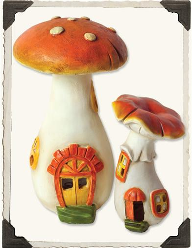 RAINBOW ILLUMINATION MUSHROOM HOUSES (PAIR)
