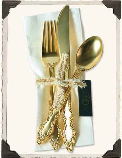 GRANNY'S GOLDEN PICNIC CUTLERY (TWO SETS)