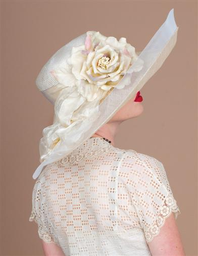 Victorian Style Hats, Bonnets, Caps, Patterns Louise Green Santa Barbara Hat $399.95 AT vintagedancer.com