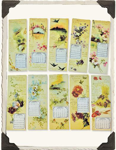 2015 BOOK OF MONTHS MINI  CALENDARS (SET OF 10)