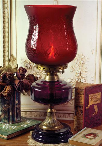 RUBY VIOLET'S HURRICANE OIL LAMP