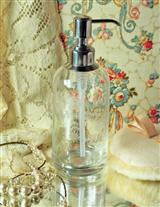 ETCHED GLASS POSH PUMP BOTTLE