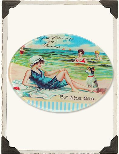 GREETINGS FROM THE SEASIDE SOAP DISH