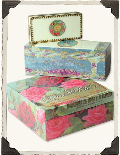 PAFUMERIE LABEL BOXES (SET OF 3)