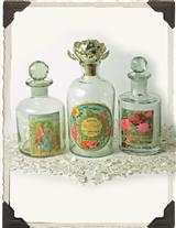 PARFUMERIE VANITY BOTTLES (SET OF 3)