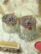 ENGLISH VANITY JARS (PAIR)