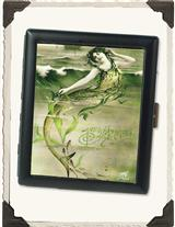 FRENCH MERMAID WITH SEAWEED CARD CASE