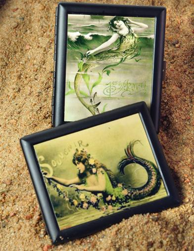 FRENCH MERMAID CARD CASES (PAIR)
