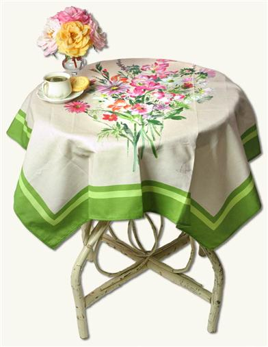 FROM FRANCE PAINTED LINEN TABLECLOTH