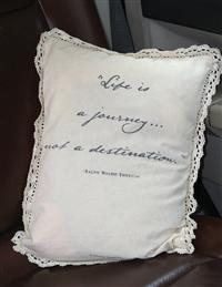 Life Is A Journey Automobile Pillow Cover