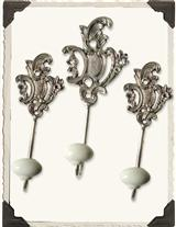 LOUIS XIV WALL HOOKS (SET OF 3)
